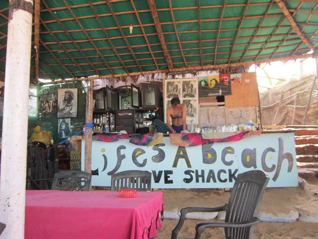 Love Shack on Calangute beach Goa India