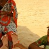 Goa India threading leg beach sun