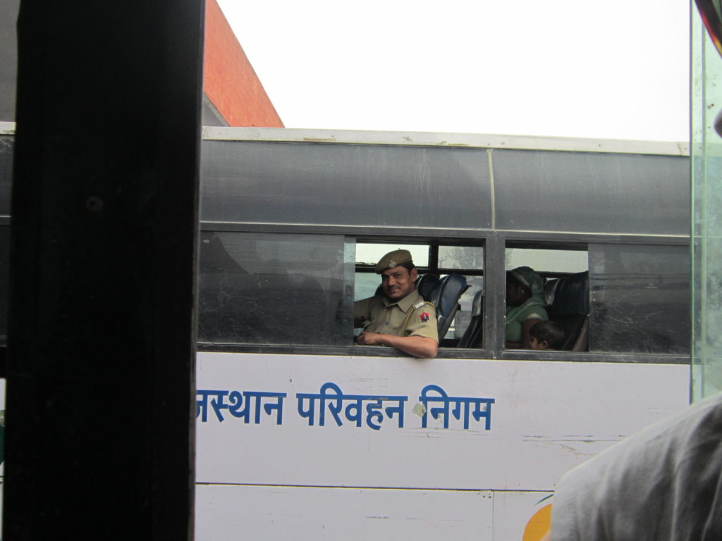 Chandigarh India bus station police