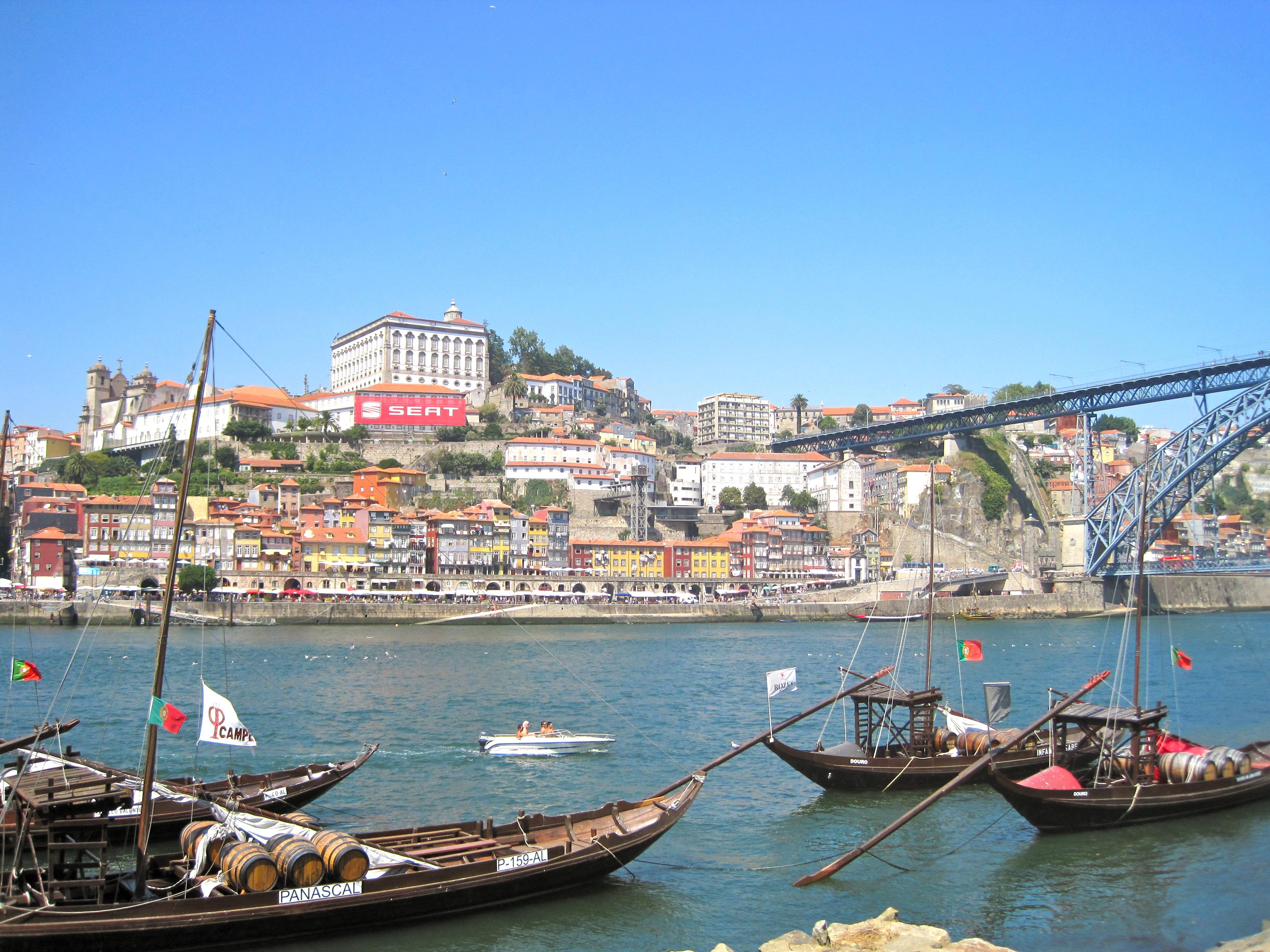 Porto Portugal river boats
