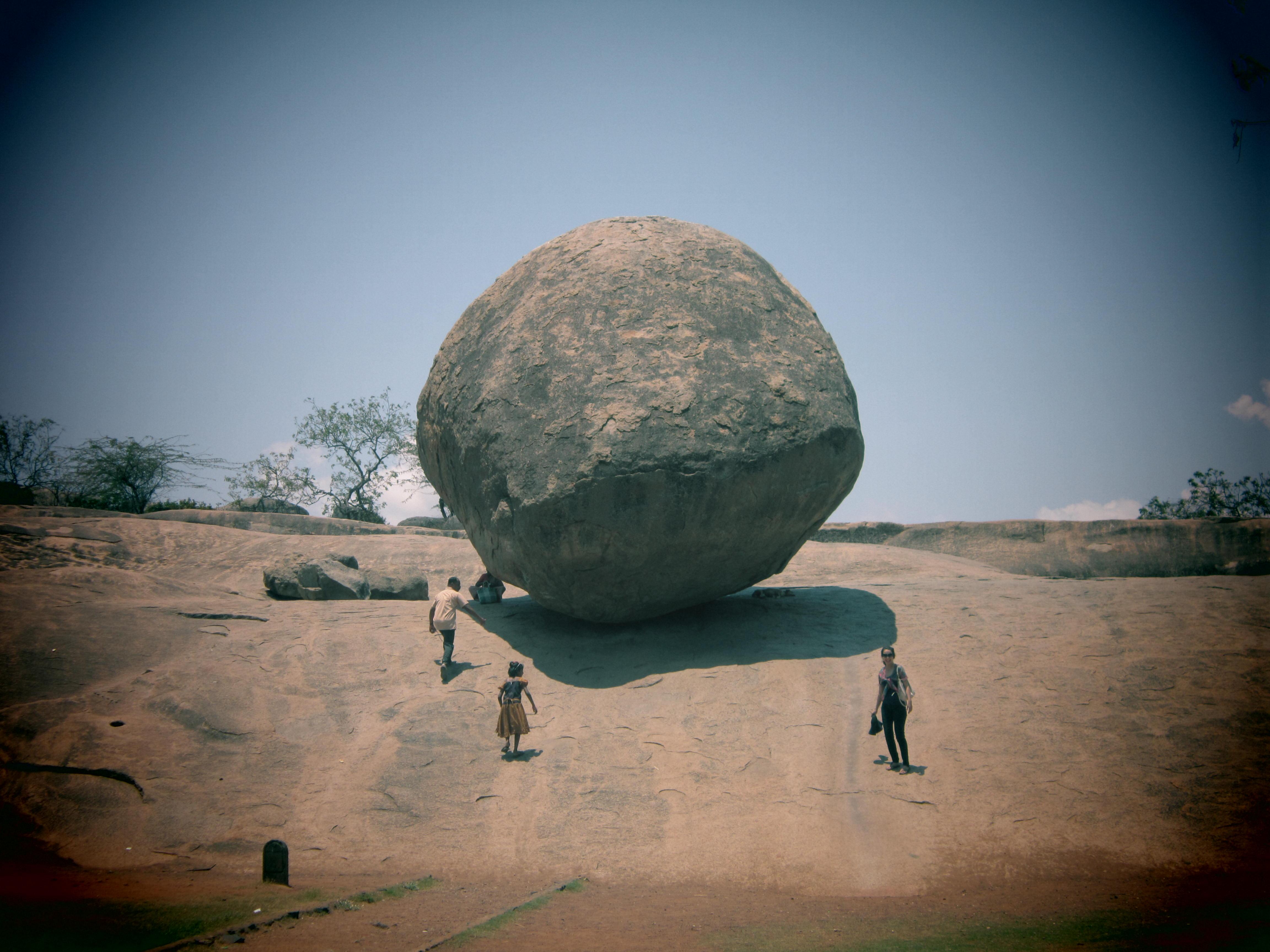 India Mamallapuram Krishna's Butter Ball
