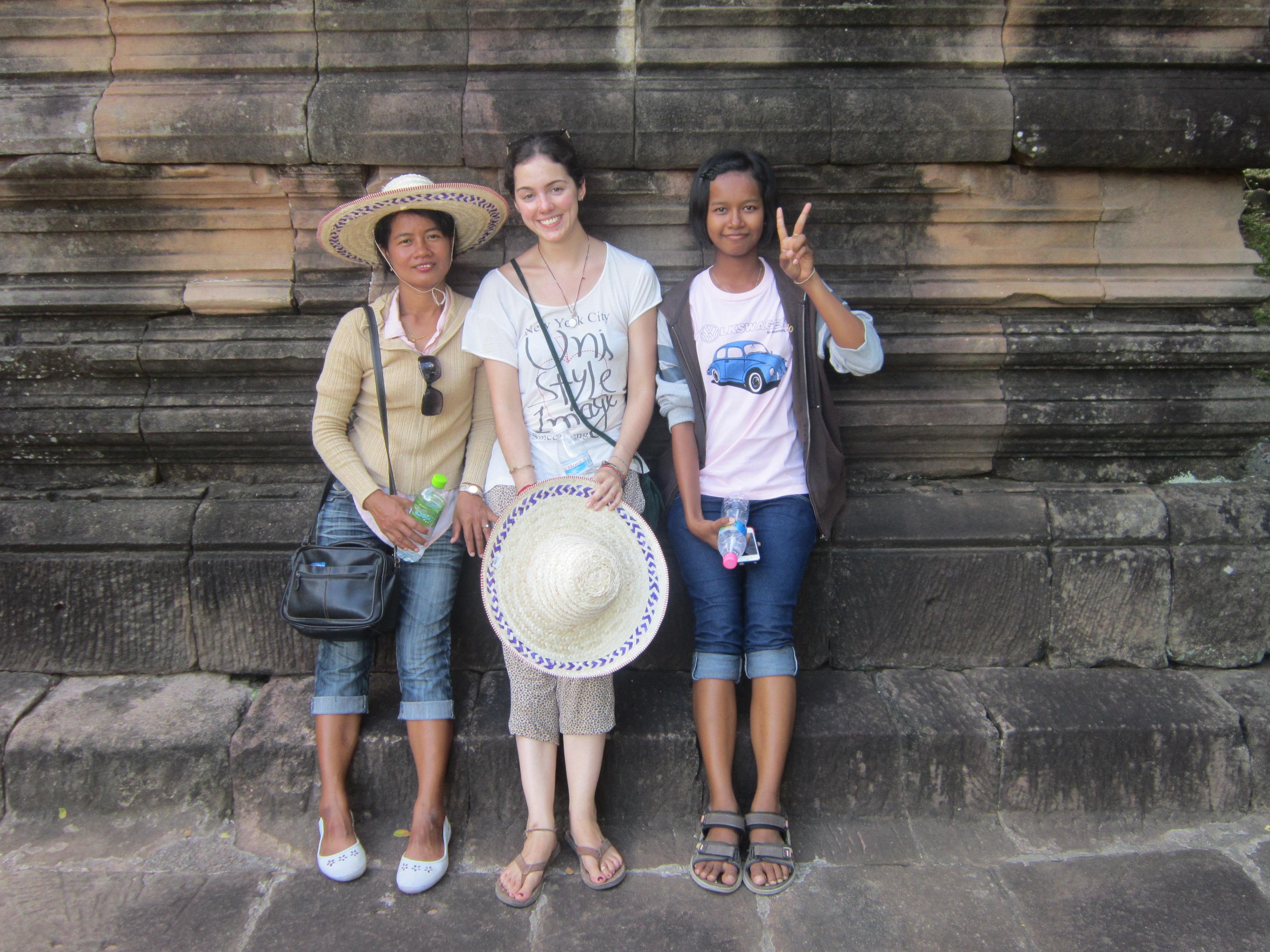 Posing at Phnom Rung Historical Park, Thailand