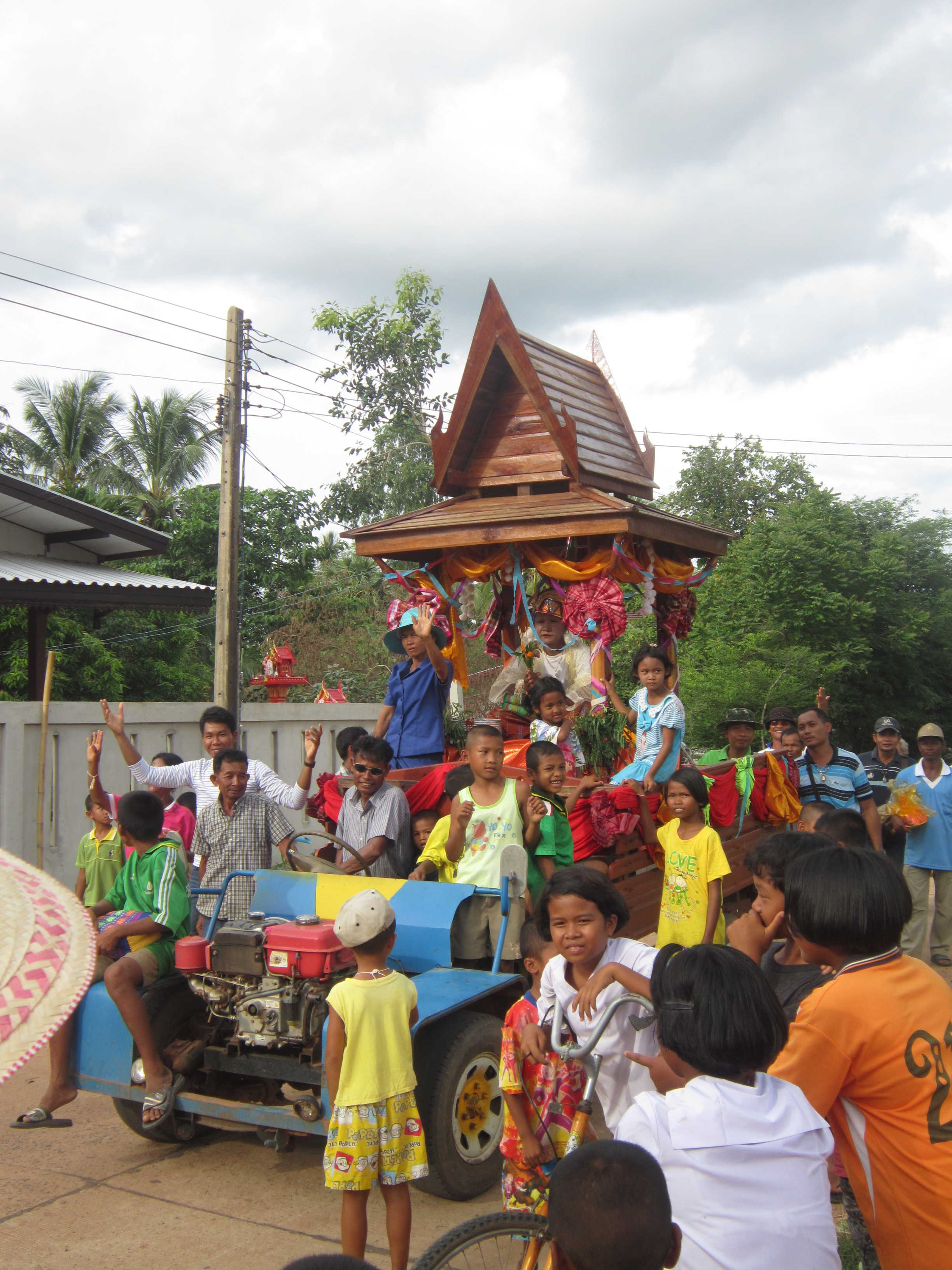 Monk procession in Nong Weang, Thailand