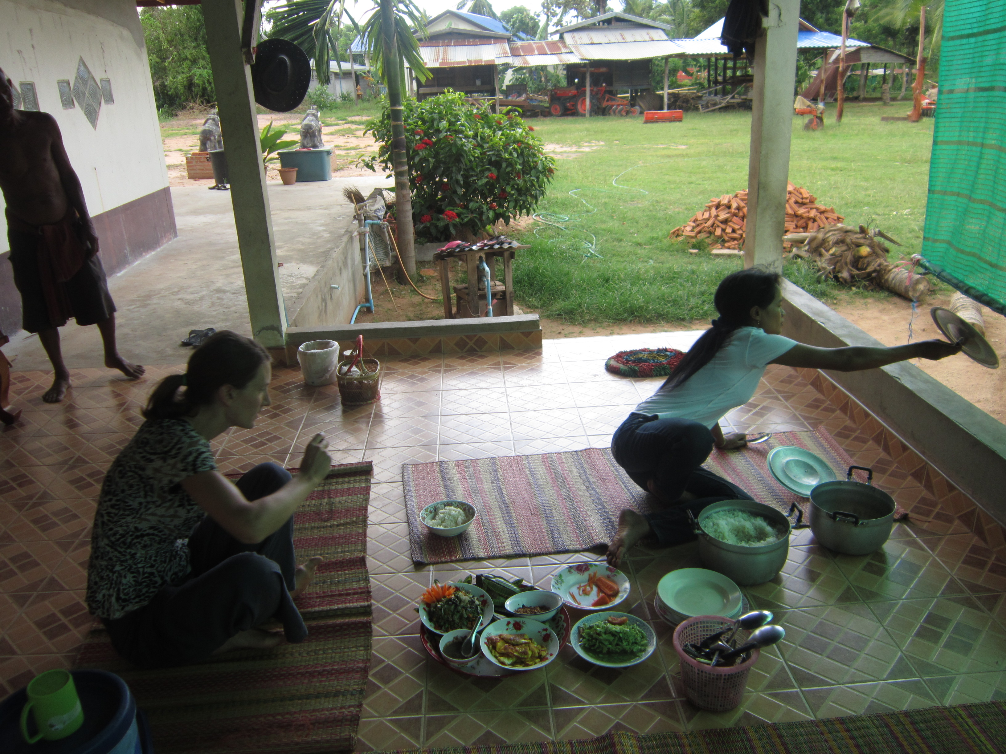 Cooking lunch at Nong Weang, Thailand