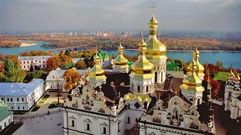 Kiev Ukraine church view