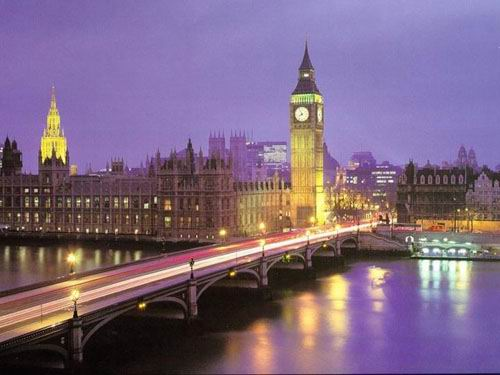 London England lights night