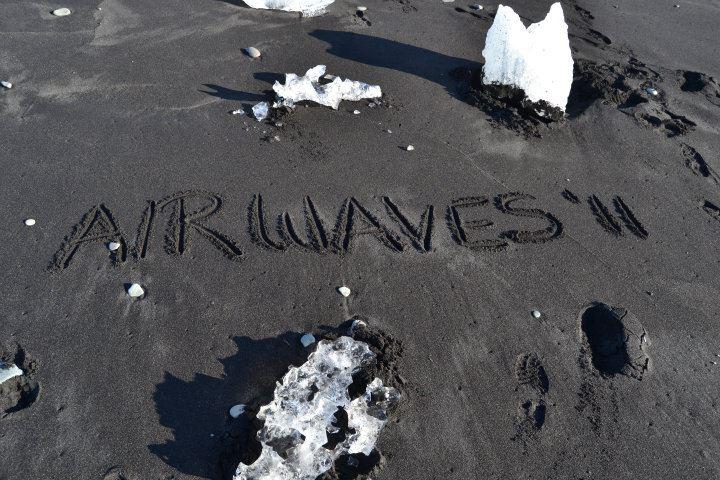 Iceland Airwaves 2011 black sand beach writing