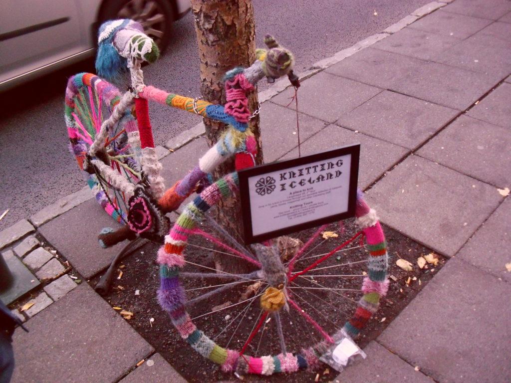 Reykjavik Iceland bicycle knitting