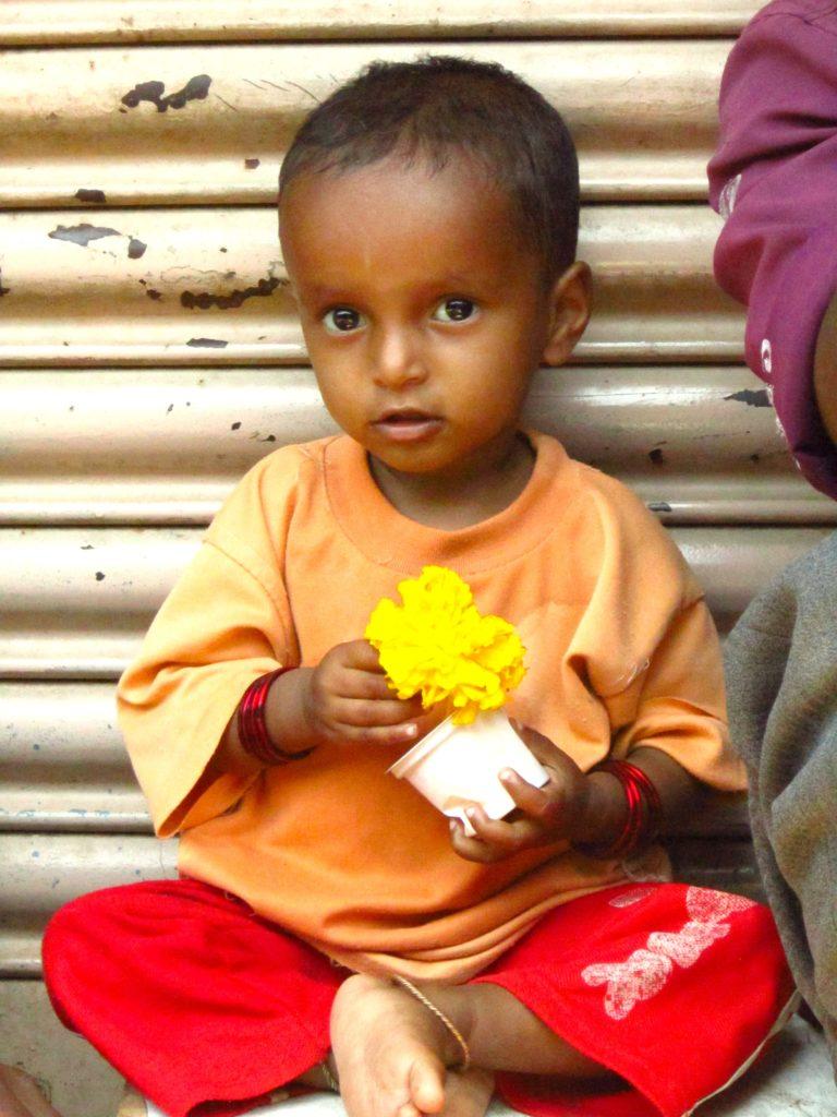 Mysore India market baby