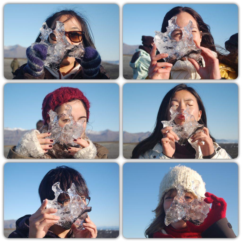 icebergs iceland faces WWF volunteers
