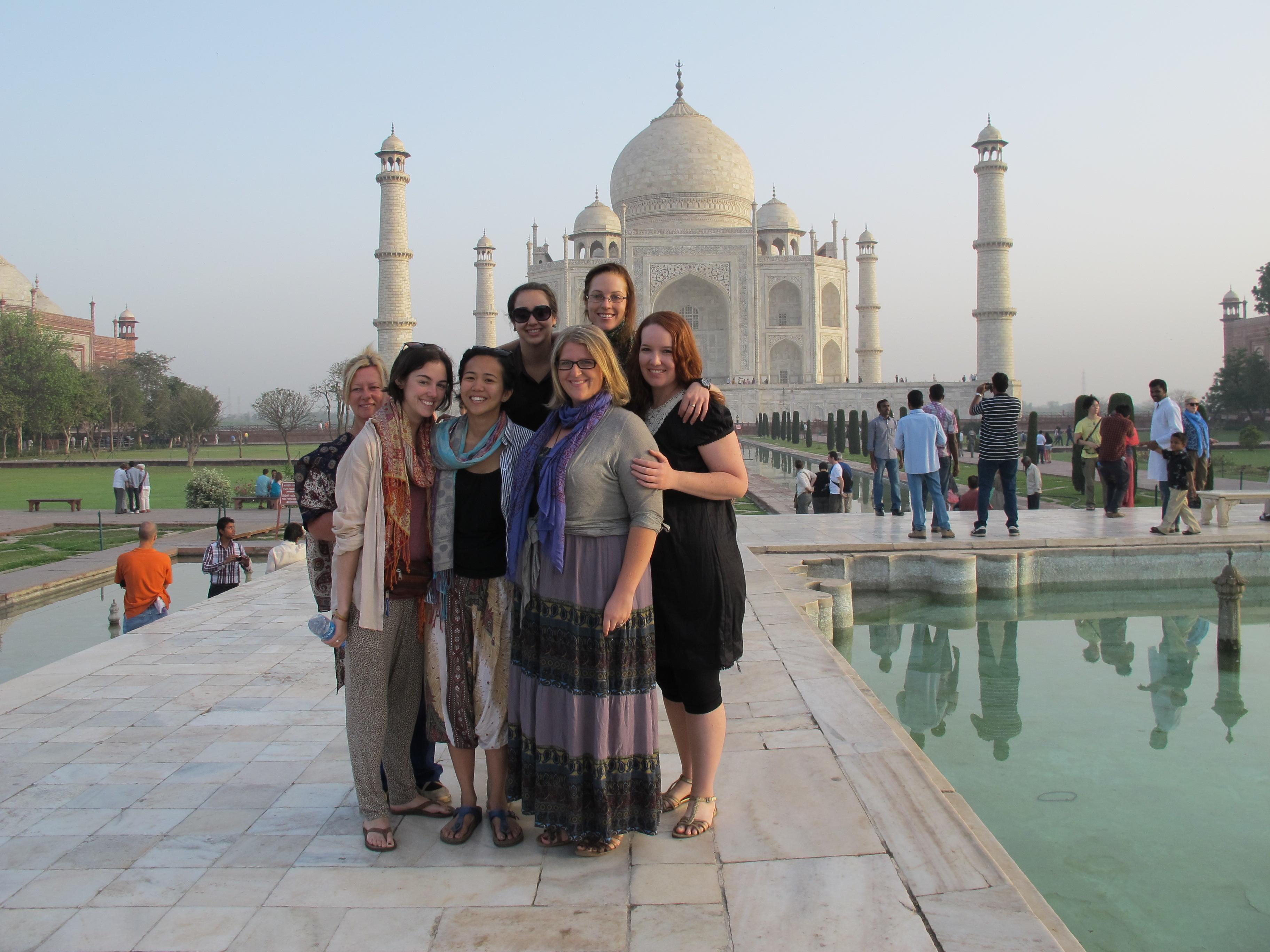 Westerners at Taj Mahal, India