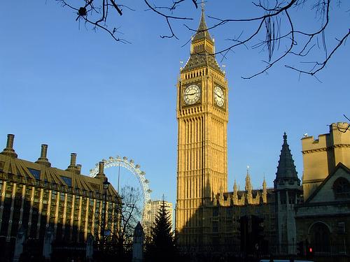London England Big Ben London Eye