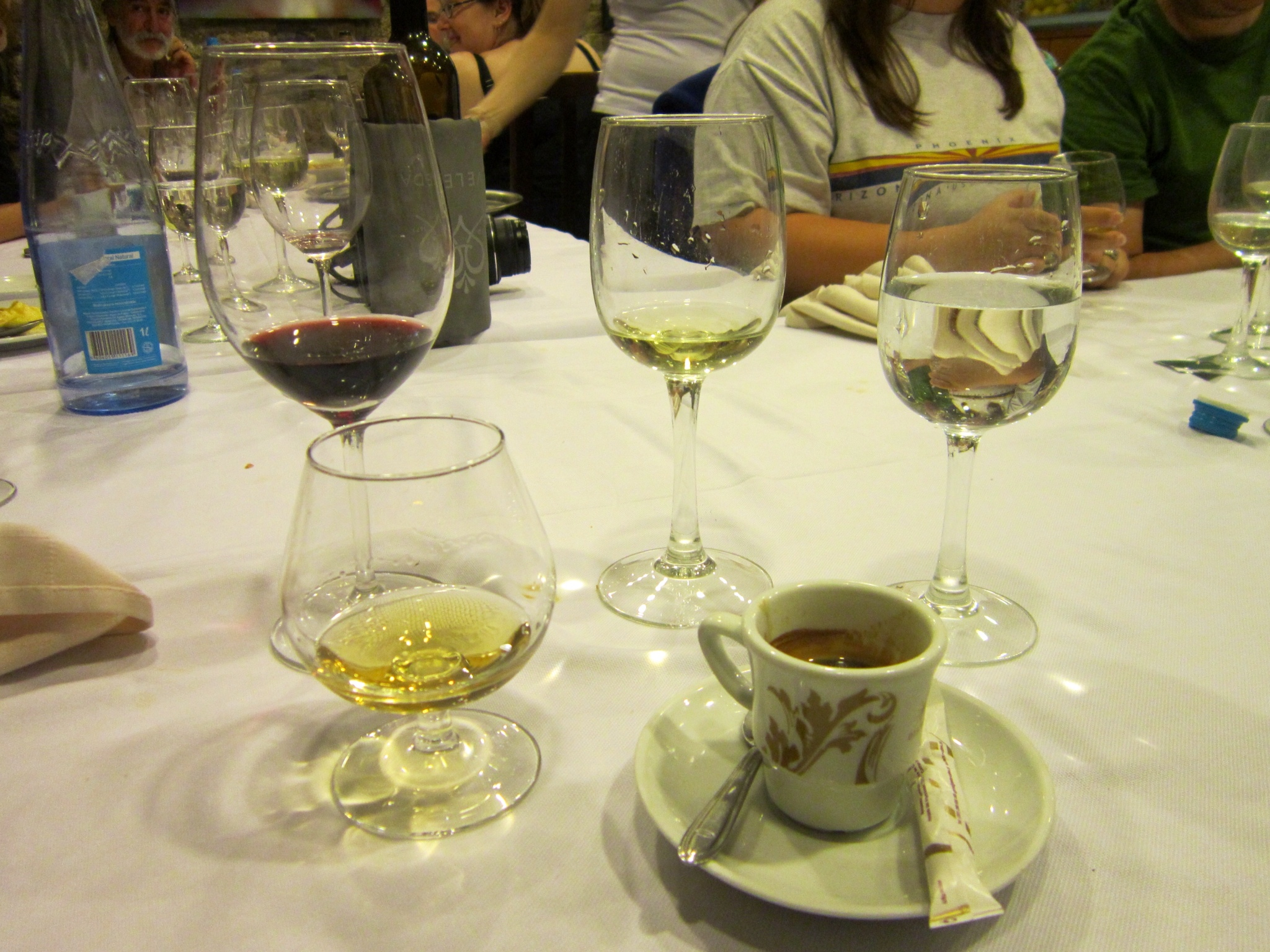 Viana do Castelo five different alcohol glasses