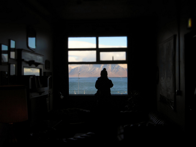 KEX hostel Reykjavik Iceland mountains silhouette