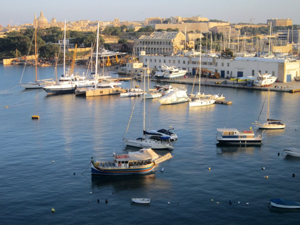 Malta Valletta harbour boats