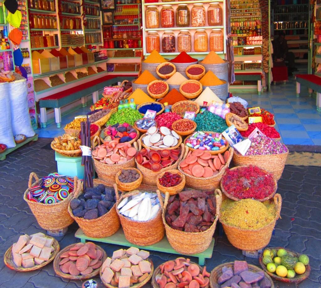 Marrakech Morocco souks spices