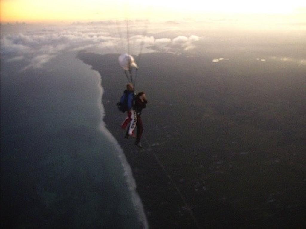 Skydive tandem jump Mombasa Kenya