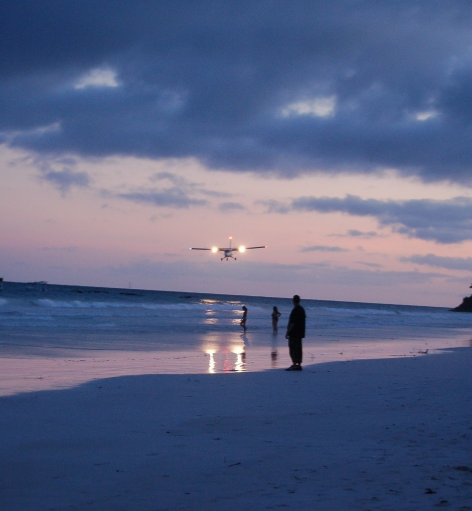 Diani beach Kenya plane sea sunset